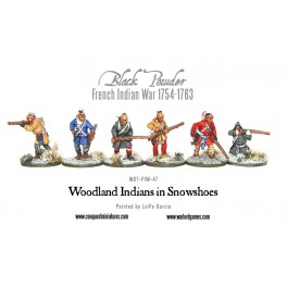 Woodland Indians in snowshoes