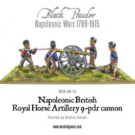 Napoleonic British Royal Horse Artillery 9-pdr cannon
