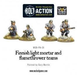 Finnish light mortar and flamethrower teams
