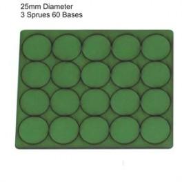 Socles vert diamètre 25mm