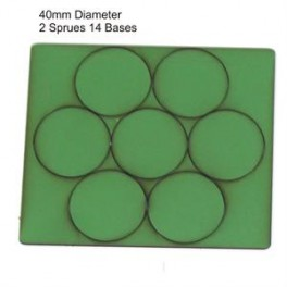 Socles vert diamètre 40mm