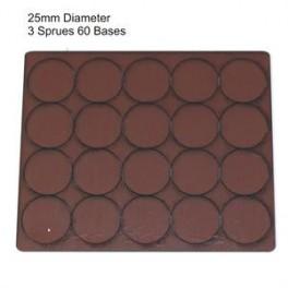 Socles marron diamètre 25mm