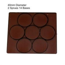 Socles marron diamètre 40mm