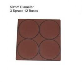 Socles marron diamètre 50mm