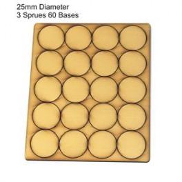 Socles beige diamètre 25mm