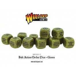 Bolt Action Orders Dice packs - Green