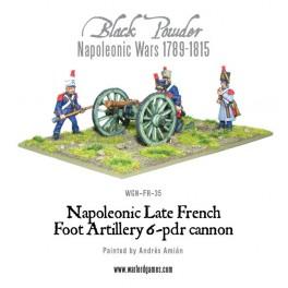 Artillerie française à pied, canon de 6 livres