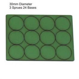 Socles vert diamètre 30mm
