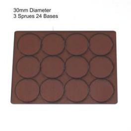 Socles marron diamètre 30mm