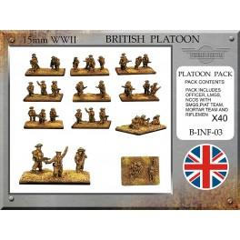 Section d'infanterie britanique