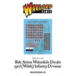 53rd (Welsh) Infantry Division decal sheet