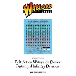 British 3rd Infantry Division decal sheet