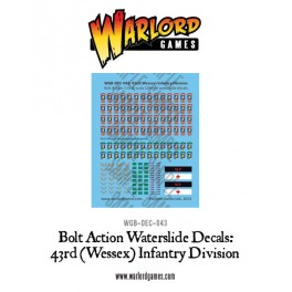 British 43rd (Wessex) Infantry Division decal sheet