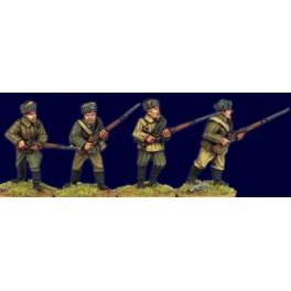 SWW404 fusiliers soviétiques avec bonnet en fourrure