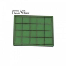 Socles vert 20mmx20mm