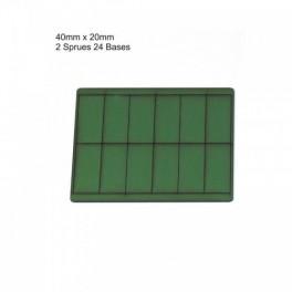 Socles vert 40mmx20mm
