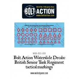 "Marques tactiques des régiments blindés ""sénior"" britanniques"