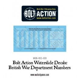British War Department numbers