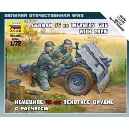 1/72nd Zvezda German 75mm Infantry gun