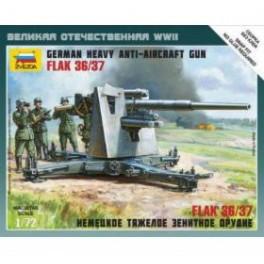 1/72nd Zvezda German 88mm Flak 36/37 gun