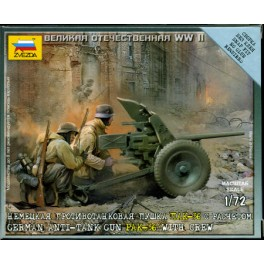 1/72nd Zvezda German Pak 36 anti tank gun