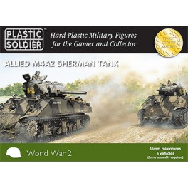 15mm Easy Assembly Sherman M4A2 Tank