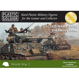 15mm Easy Assembly Sherman M4A3 Late Tank