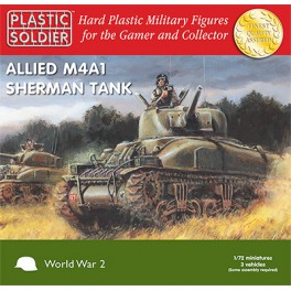 1/72nd Easy Assembly Sherman M4A1 75mm Tank