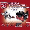 AE02+ Ensemble Aérographe et compresseur HD